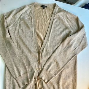 Talbots fancy gold cardigan size S